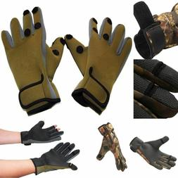 Fishing Gloves Full Finger Leather Waterproof Outdoor Sports