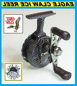 EAGLE CLAW INLINE ICE REEL 5 BALL BEARING STAR DRAG GRAPHITE