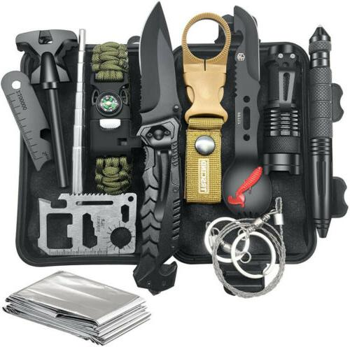 12 in 1 survival gear and equipment
