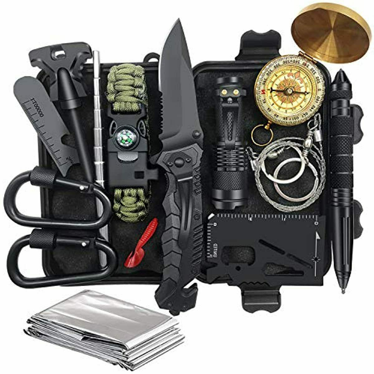 real camping kit for men survival gear