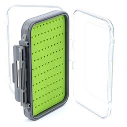 Large Waterproof Double Sided Jig/Fly Box with Silicone Inse