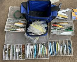 Lot 1 Shimano Bag Full Of Mixed Fishing Lures Hooks Weights