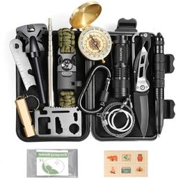 Survival Gear 14 in 1 Emergency Tool Kit Equipment Camping H
