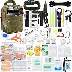 Survival Gear and Equipment, 500 Pcs Survival First Aid kit,